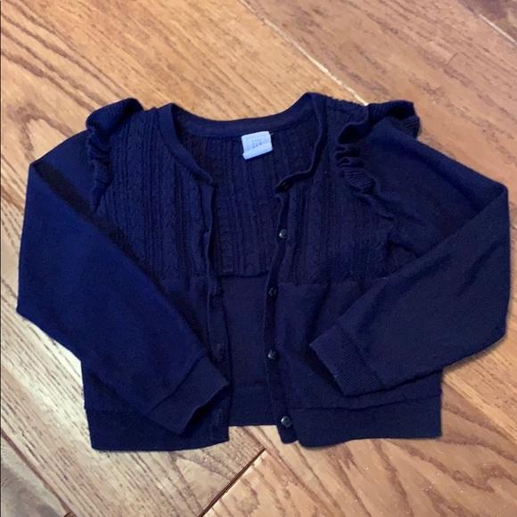 GAP Other - Baby Gap navy blue ruffle cardigan sweater